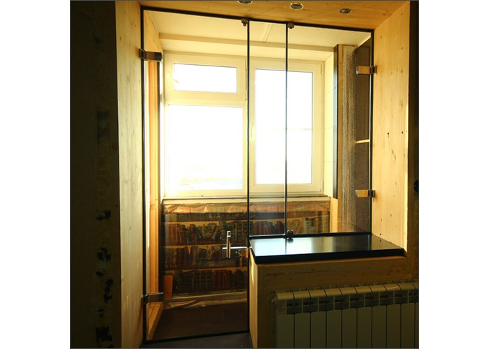 Объединение лоджии с комнатой раздвижные двери фото..